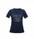 Cavallo T-Shirt Damen Maren V-Ausschnitt - darkblue