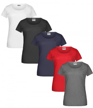 T-Shirt Ladies Brusttasche