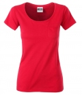 T-Shirt Ladies Brusttasche - rot