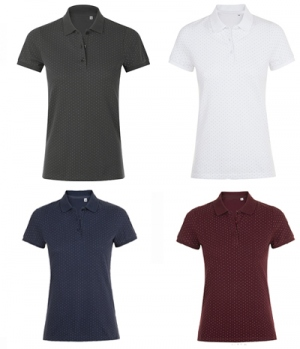 Polo Shirt Ladies Brandy Women Pünktchen
