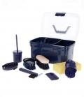 Kerbl Putzbox gefüllt 8-teilig für Kids - navy