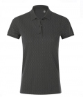 Polo Shirt Ladies Brandy Women Pünktchen - grau