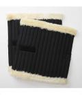 Kavalkade Bandagenunterlagen Kunstfellrand Paar - schwarz