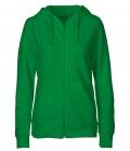 Textil Jacke Sweatjacke Hoodie Ladies - grün