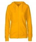 Textil Jacke Sweatjacke Hoodie Ladies - gelb