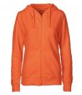 Textil Jacke Sweatjacke Hoodie Ladies - orange