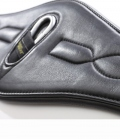 Kavalkade Sattelgurt Leder Soft Comfort - schwarz