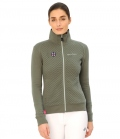 Spooks Sweatjacke Damen Lotte HW´19 - light oliv