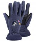 ELT Handschuhe Kids Lucky Carla Unicorn Flee - nachtblau