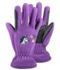ELT Handschuhe Kids Lucky Carla Unicorn Flee - lila