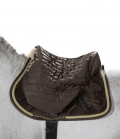 Eskadron Sattelschoner Glossy Quilted Heritage - blackmocca