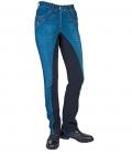 HKM Jodphurhose Damen Jeans Classic GB - blau