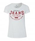 Oklahoma T-Shirt Women Oklahoma Jeans - weiß