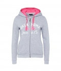 Oklahoma Jacke Sweat Women Hoody - grau