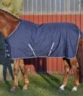 HKM Turnoutdecke Pony mit Fleecefutter - dkl.blau