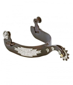 Westernsporen Silber verziert brownsteel