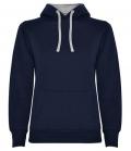 Textil Hooded Sweatshirt Woman Kängurutasche - navy/grey