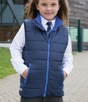 Textil Weste Junior Reißverschluss Taschen