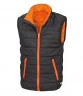 Textil Weste Junior Reißverschluss Taschen - schwarz-orange