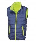 Textil Weste Junior Reißverschluss Taschen - navy/lime