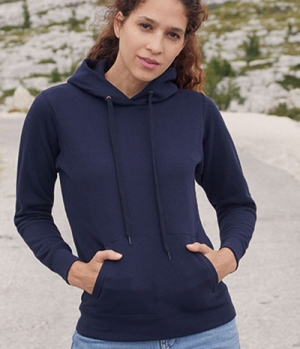 Textil Sweat Shirt Hoody Ladies Fit tailliert