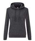 Textil Sweat Shirt Hoody Ladies Fit tailliert - grau