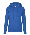 Textil Sweat Shirt Hoody Ladies Fit tailliert - royalblau