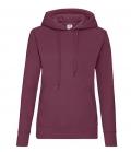 Textil Sweat Shirt Hoody Ladies Fit tailliert - burgundy