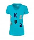 Pikeur T-Shirt Damen Mary Samt Buchstaben FS´20 - caribbean