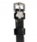 Sporenriemen Leder Diamant British Line - schw-blume