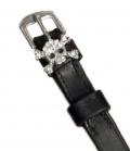 Sporenriemen Leder Diamant British Line - schwarz