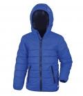Textil Jacke Junior Reißverschluss Taschen - royalblau dunkelblau