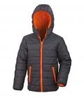Textil Jacke Junior Reißverschluss Taschen - schwarz-orange