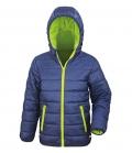Textil Jacke Junior Reißverschluss Taschen - navy/lime