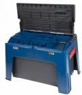 HKM Putzbox Step on - blau schwarz