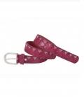 Gürtel Zara Nietenverzierung - burgundy