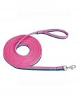 Busse Longierleine Soft 3-farbig super weich - denim/pink