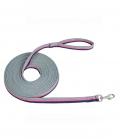 Busse Longierleine Soft 3-farbig super weich - grey/pink