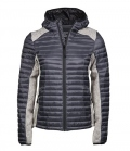 Textil Jacke Hooded Crossover Materialmix Lady - spacegrey
