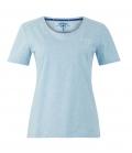 Wellensteyn T-Shirt Lady 95% Baumwolle 5% Elastan - hellblau