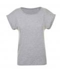 T-Shirt Melba Round Neck Women - grau-melange
