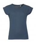 T-Shirt Melba Round Neck Women - denim