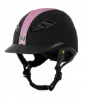 Back on Track Reithelm EQ3 Lynx Micromocca pink - schwarz-pink