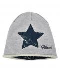 Pikeur Mütze Kinder Sweat-/Lurex mit Stern - grau