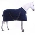 Horseware Stalldecke Rambo Cosy Fleecekragen 400g - blau/beige