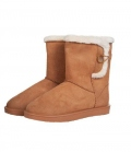 HKM Winterstiefel Davos Button Fur waterprof - camel