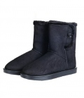 HKM Winterstiefel Davos Button Fur waterprof - schwarz