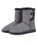 HKM Winterstiefel Davos Button Fur waterprof - grau