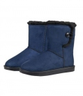HKM Winterstiefel Davos Button Fur waterprof - dkl.blau