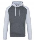 Textil Sweat Shirt Baseball Hoodie Kontrast - charcoal grey